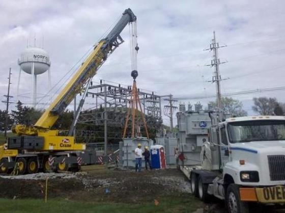 Industrial equipment lifting by Pro Crane in Norfolk, NE