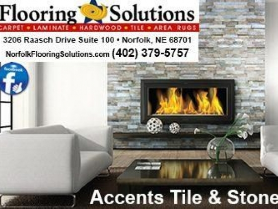 Accents tile & stone at Flooring Solutions in Norfolk, Nebraska